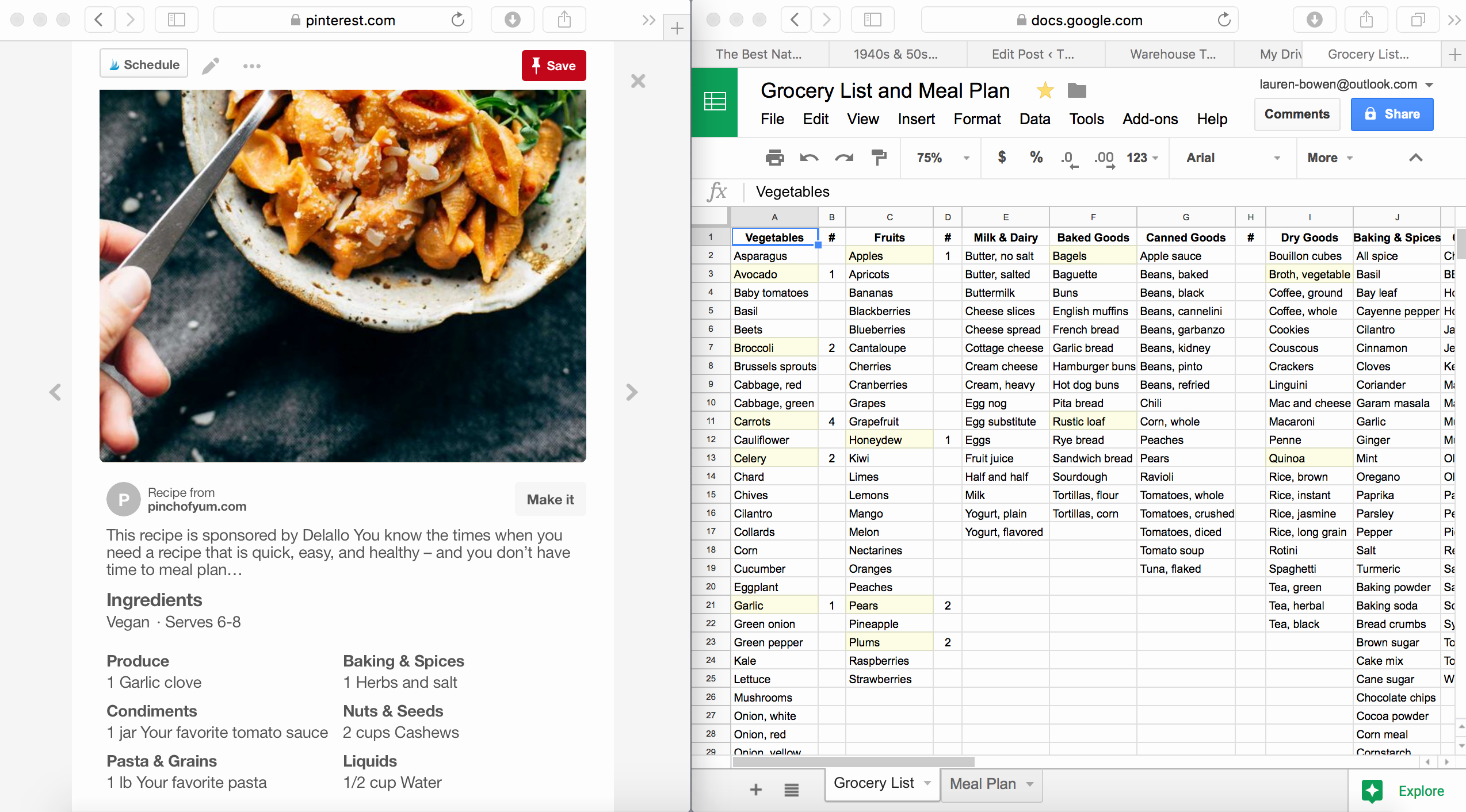 Google Drive Recipe Template Inspirational How I Use Google Sheets for Grocery Shopping and Meal Planning