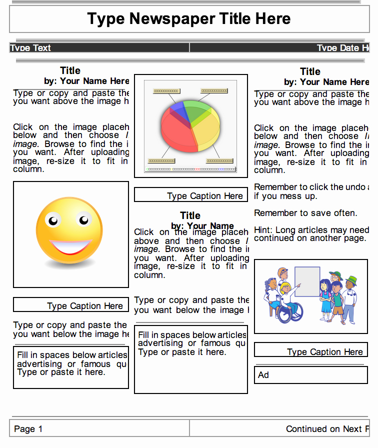 Google Drive Recipe Template Lovely 2 Beautiful Templates to Create Classroom Newspapers Using