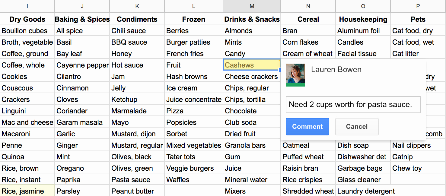 Google Drive Recipe Template Lovely How I Use Google Sheets for Grocery Shopping and Meal Planning