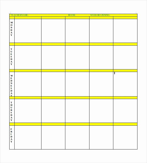 Google Lesson Plan Template Unique Blank Lesson Plan Template