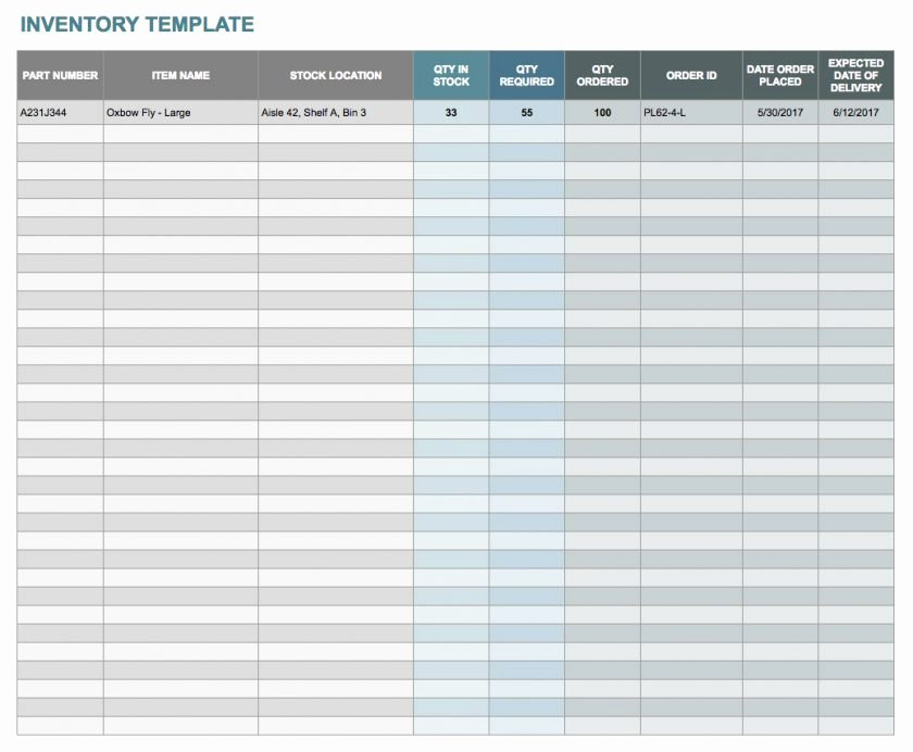 Google Sheets Inventory Template Elegant Free Excelntory Templates Spreadsheet Template Sheet with