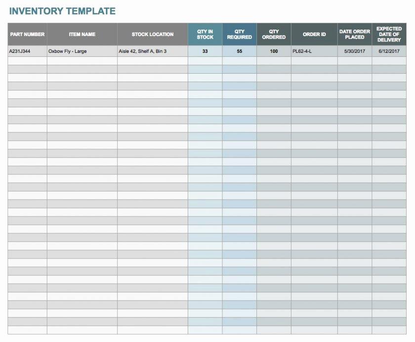 Google Sheets Inventory Template Elegant Free Excelntory Templates Spreadsheet Template Sheet with
