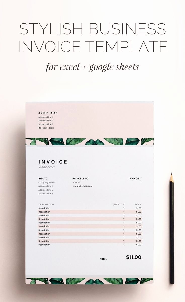 Google Sheets Invoice Template New Best 25 Invoice Template Ideas On Pinterest