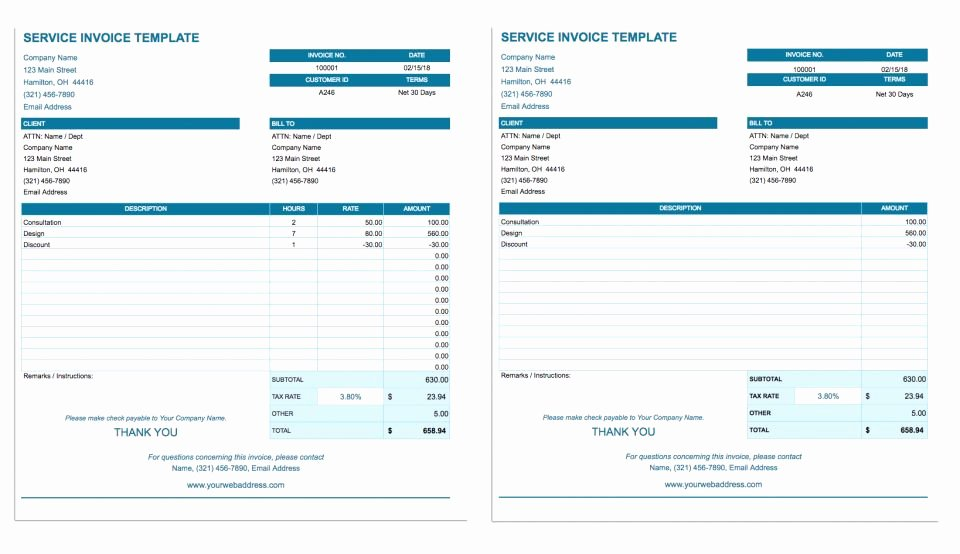 Google Sheets Receipt Template Awesome Free Google Docs Invoice Templates