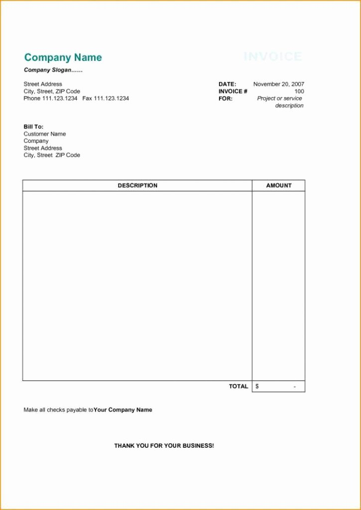 Google Sheets Receipt Template Beautiful Plain Invoice Template Sample Worksheets Blank Receipt