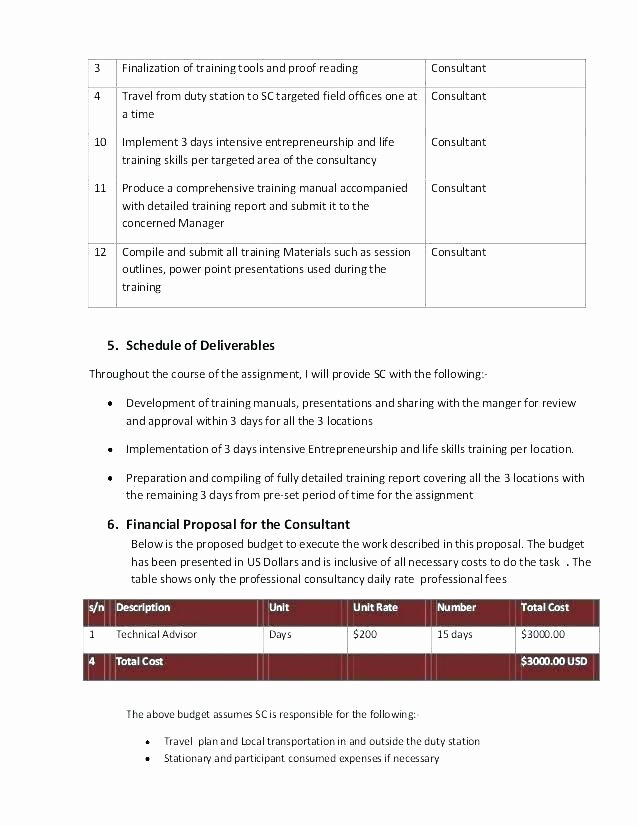 Government Contract Proposal Template Awesome Government Contract Proposal Template Financial Proposal
