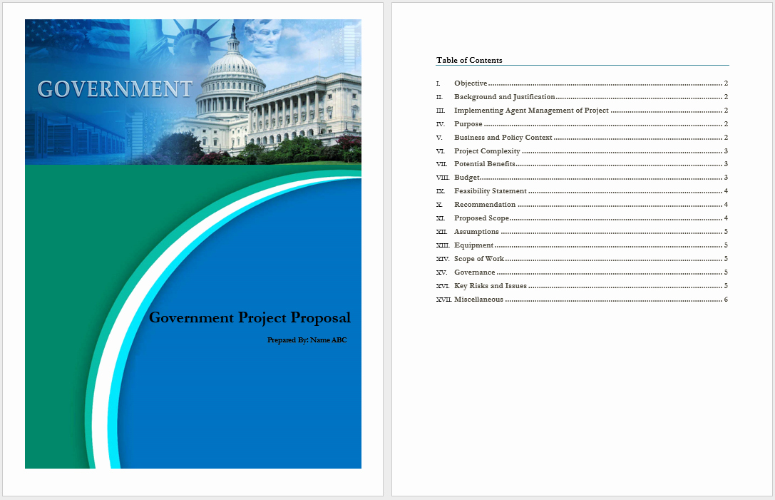 Government Contract Proposal Template Awesome Government Project Proposal Template Word Templates