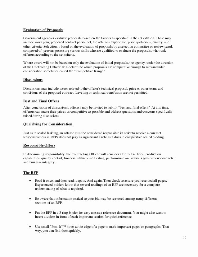Government Contract Proposal Template Inspirational Government Contract Proposal Template