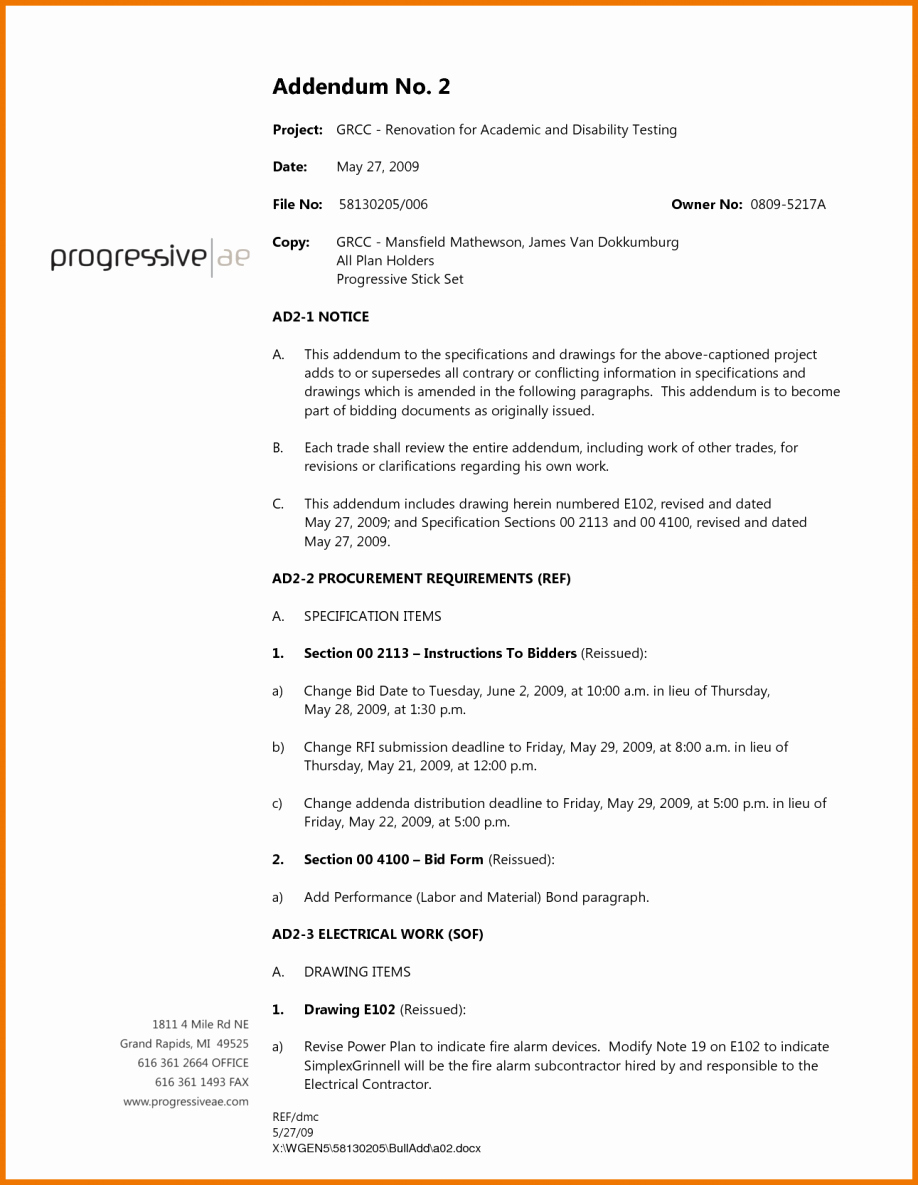 Government Contract Proposal Template Unique Contractor Proposal Sample Contract Bid Letter Template