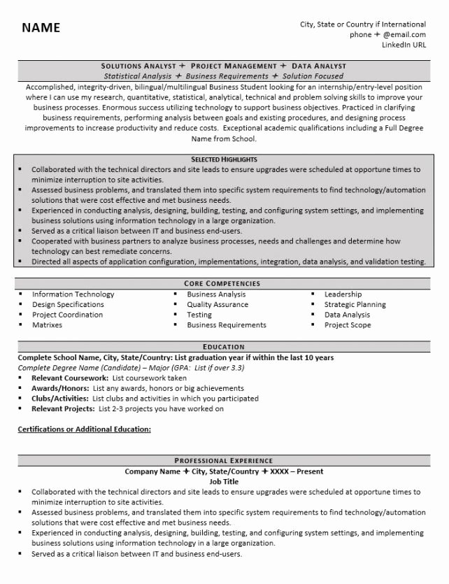 Grad School Resume Template Awesome How to Write A Graduate School Resume