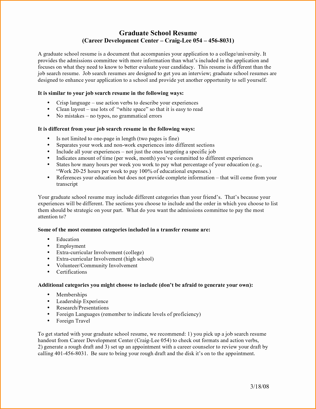 Grad School Resume Template Unique 14 Graduate School Resume Objective