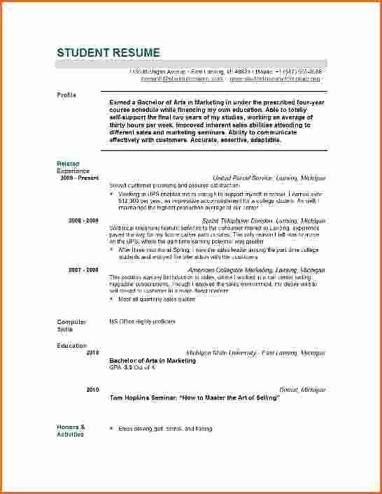 Grad School Resume Template Unique Graduate School Resume Templates Best Resume Collection