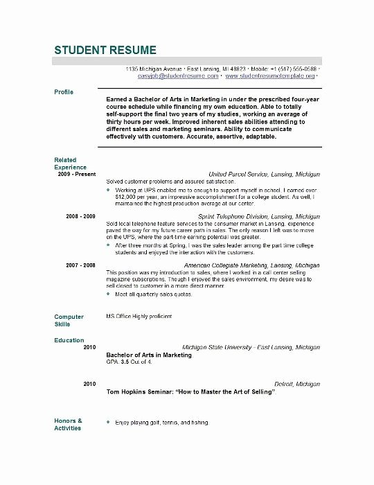 Grad School Resume Template Unique Sample Resume for Graduate School Application Best