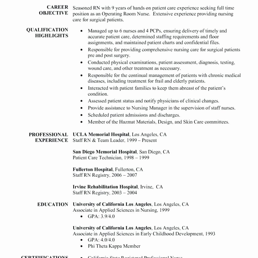 Graduate Nurse Resume Template Awesome Nurse Practitioner Student Resume Objective Rn New Grad