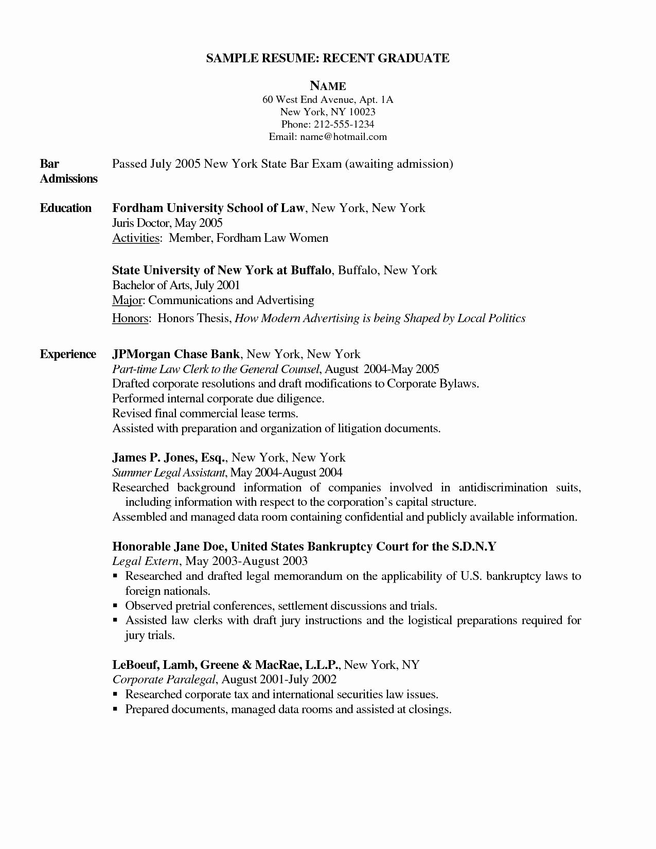 Graduate Nurse Resume Template Inspirational New Graduate Nurse Resume Sidemcicek
