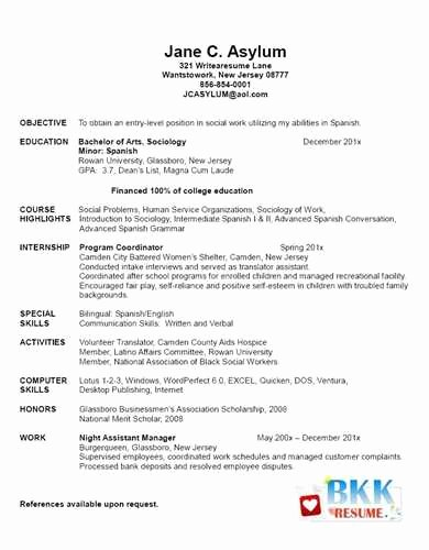Graduate Nurse Resume Template Lovely Example Of New Graduate Nurse Resume Jackie M