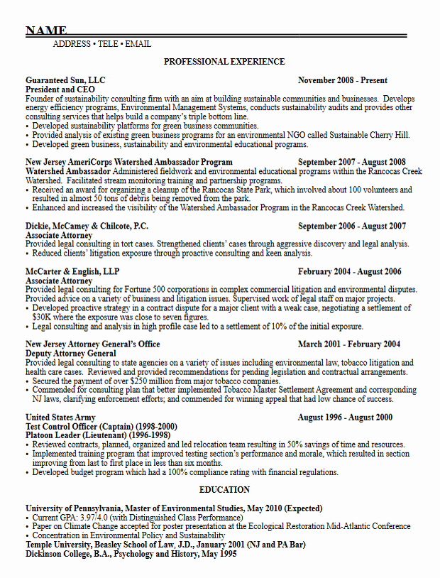 Graduate School Cv Template Awesome Career Services Sample Resumes for Graduate Students and