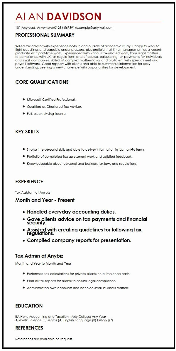 Graduate School Cv Template Inspirational Cv Sample for Graduate Students
