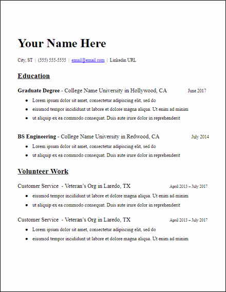 Graduate School Resume Template Inspirational Education Based Grad School No Experience Resume Template