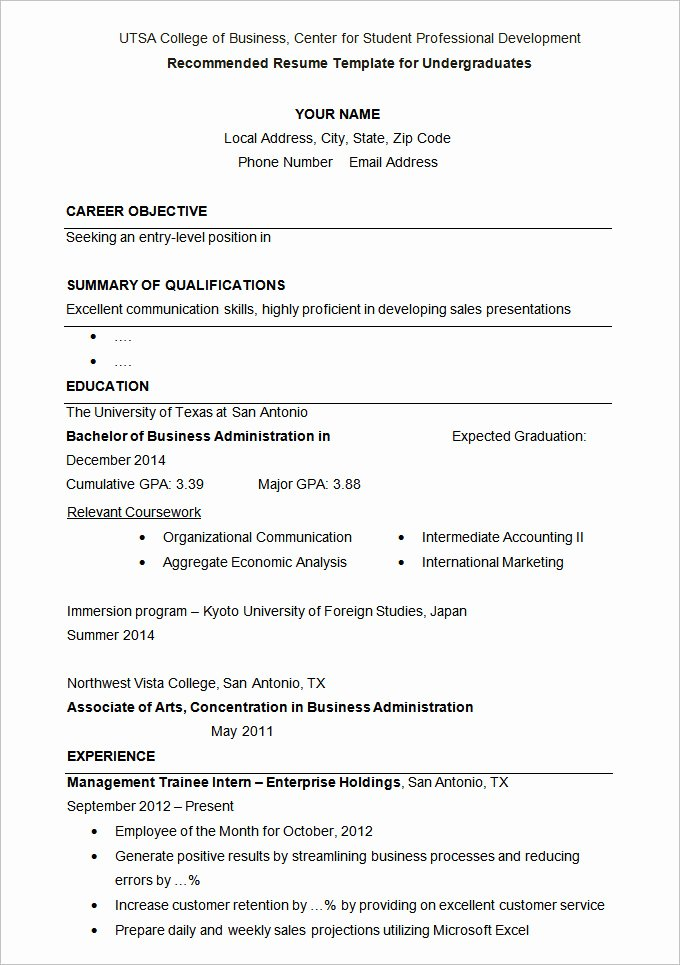Graduate Student Resume Template Best Of 36 Student Resume Templates Pdf Doc