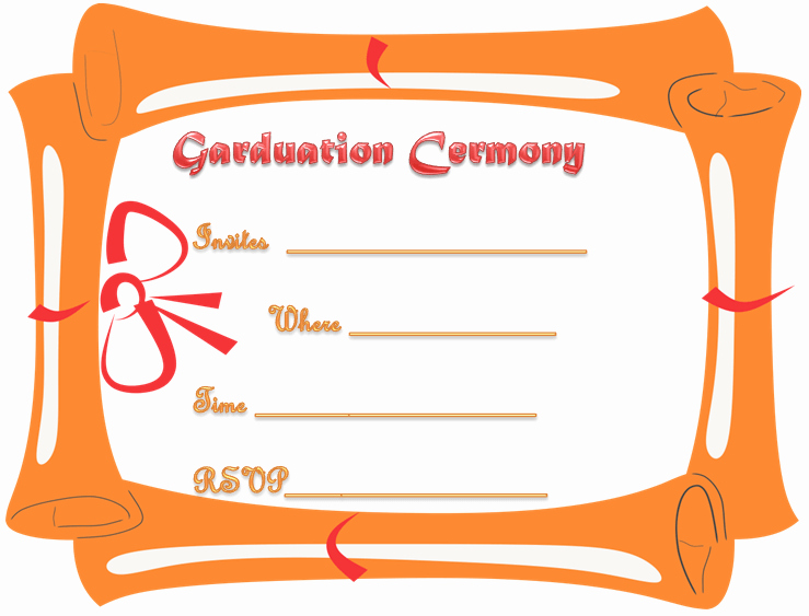 Graduation Ceremony Program Template Best Of Free Printable Graduation Ceremony Invitation Template