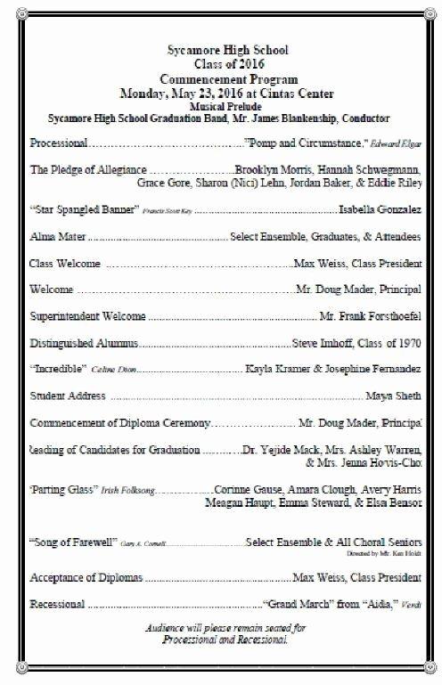 Graduation Ceremony Program Template Best Of High School Graduation Ceremony Program Meganphoto