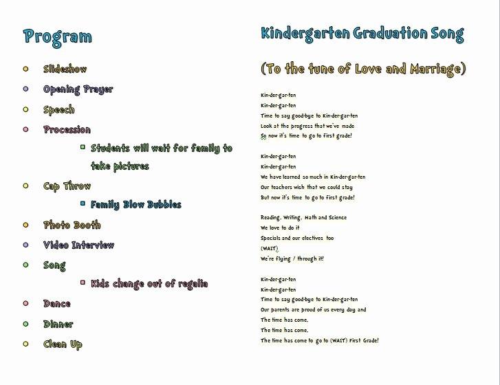 Graduation Ceremony Program Template Elegant Short Graduation Speech for Kindergarten Preschool