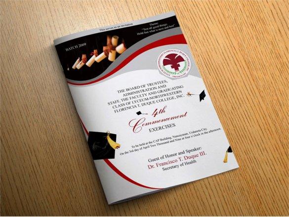 Graduation Ceremony Program Template Inspirational 14 Graduation Brochure Templates – Free Psd Eps