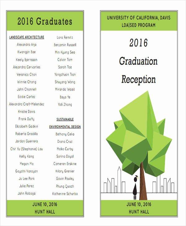 Graduation Ceremony Program Template Inspirational 7 Graduation Program Templates Pdf Word