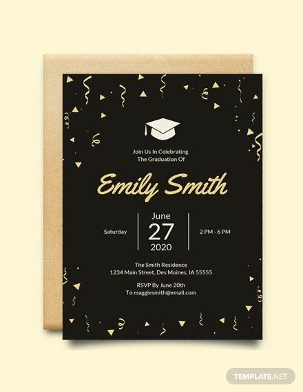 Graduation Invitation Template Word Awesome Free Graduation Invitation Template Download 517