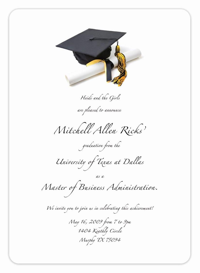 Graduation Invitation Template Word Beautiful Free Printable Graduation Invitation Templates 2013 2017