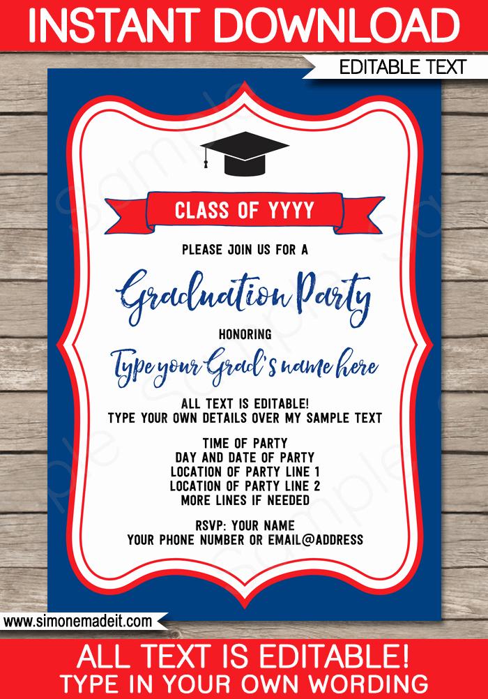Graduation Invitation Template Word Beautiful Graduation Party Invitations Template