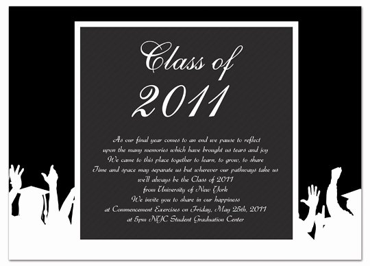 Graduation Invitation Template Word Best Of Graduation Invitation Templates