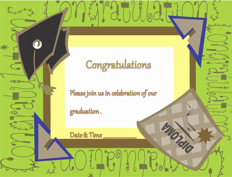 Graduation Invitation Template Word Elegant Free Printable Graduation Ceremony Invitation Template