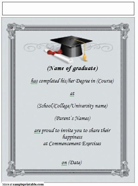 Graduation Invitation Template Word Fresh Printable Graduation Announcement Invitation Yep I M