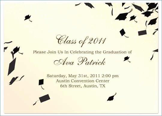 Graduation Invitation Template Word Inspirational Free Graduation Party Invitation Templates for Word
