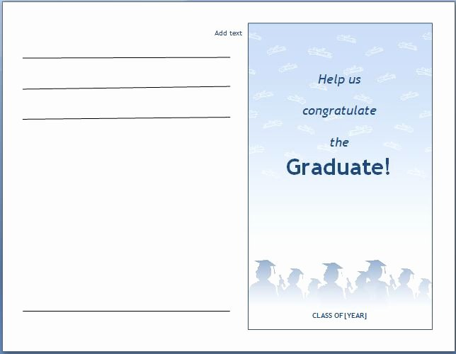 Graduation Invitation Template Word Lovely Ms Word Graduation Party Invitation Template