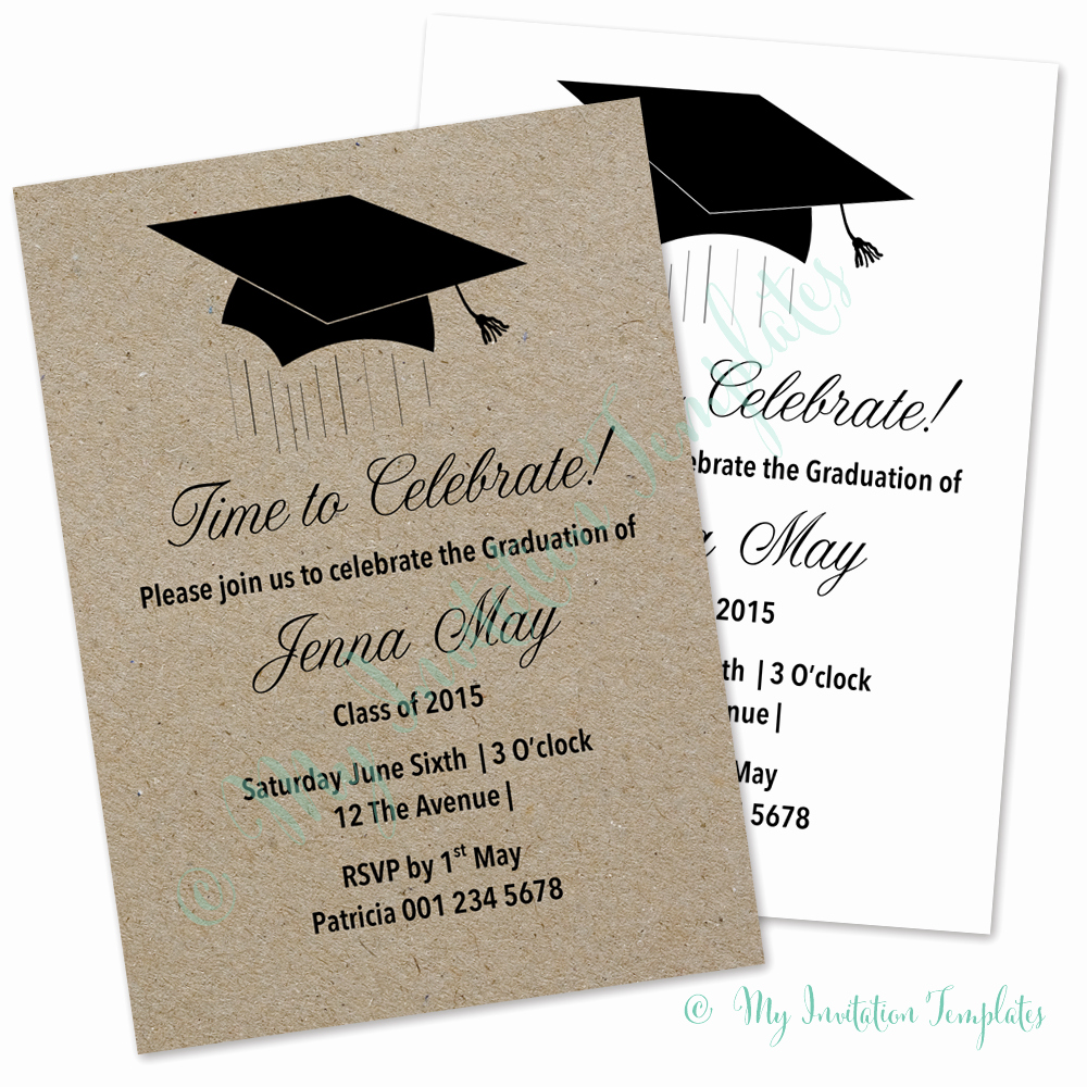 Graduation Invitation Template Word Lovely Template Graduation Invitation Template