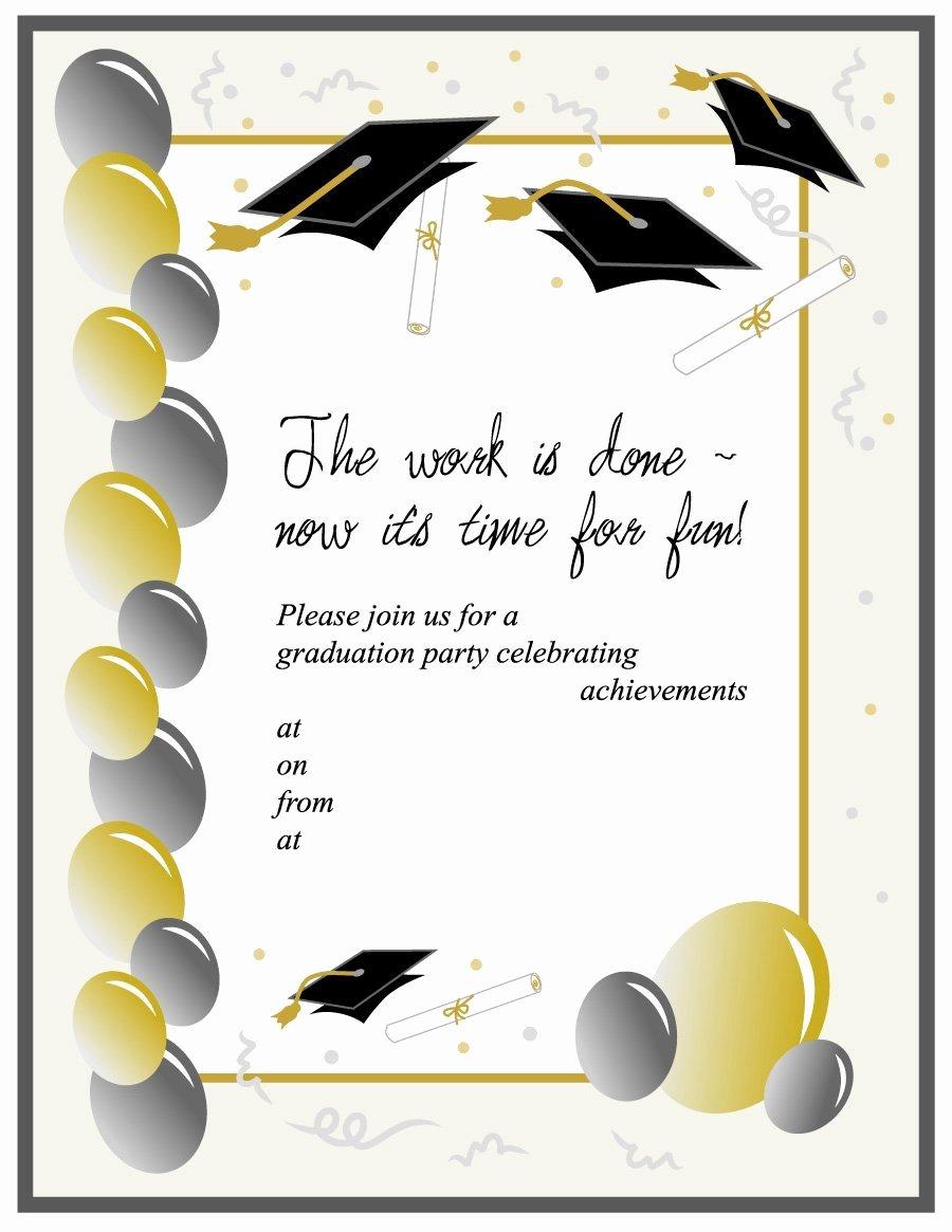 Graduation Invitation Template Word Luxury 40 Free Graduation Invitation Templates Template Lab