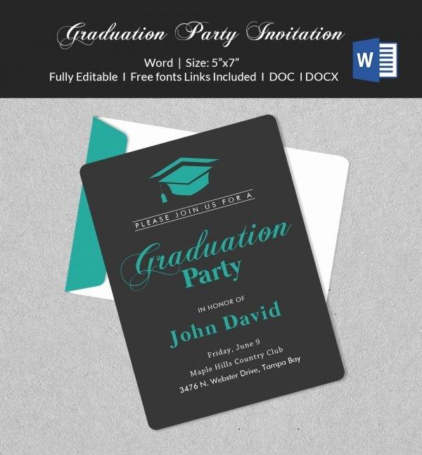 Graduation Invitation Template Word New 50 Microsoft Invitation Templates Free Samples