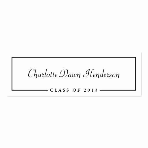 Graduation Name Card Template Awesome Graduation Announcement Name Card Border Class Of Pack
