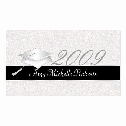 Graduation Name Card Template Beautiful High School Graduation Name Cards 2009 Business Card