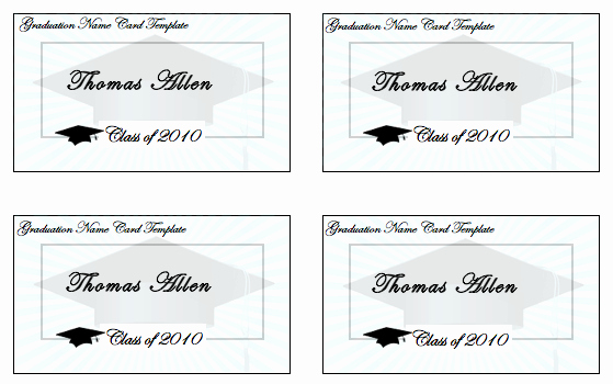 Graduation Name Card Template Best Of Birthday Card Template