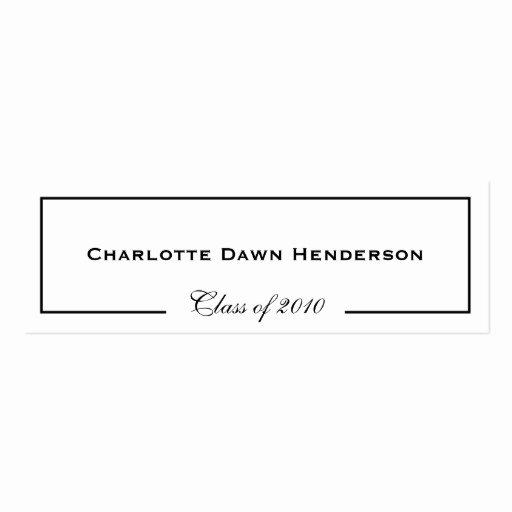 Graduation Name Card Template Luxury Graduation Announcement Name Card Border Class Of Double