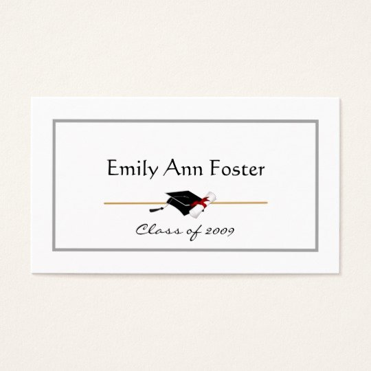Graduation Name Card Template Luxury Personalized Graduation Name Cards
