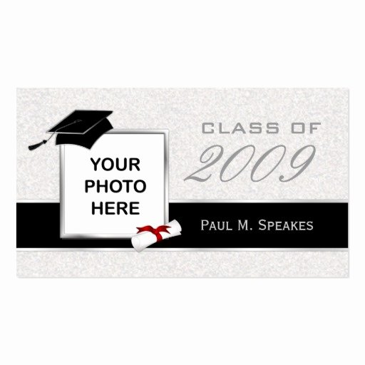 Graduation Name Card Template Unique Graduation Name Card Gray and Black Business Card