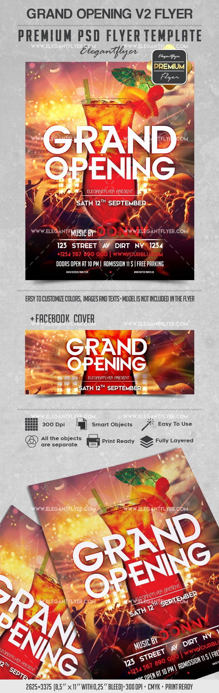 Grand Opening Flyer Template Beautiful Grand Opening V2 – Flyer Psd Template – by Elegantflyer