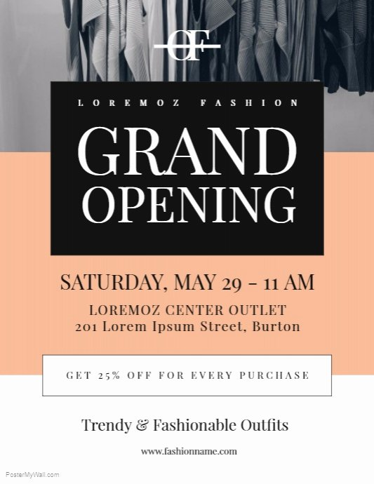 Grand Opening Flyer Template Luxury Grand Opening Flyer Template