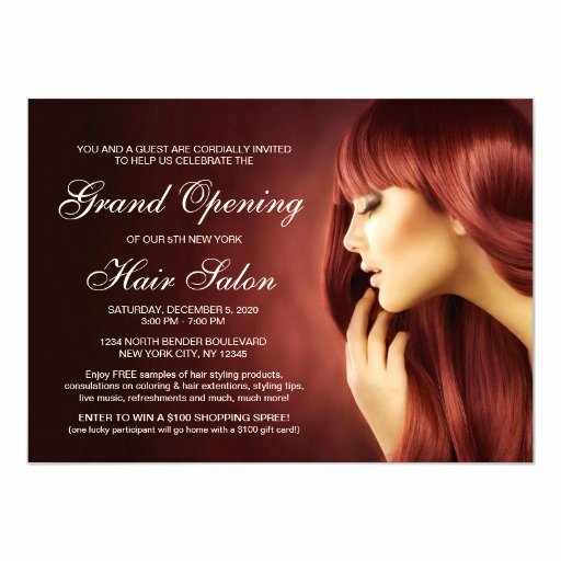 Grand Opening Invitation Template Beautiful Hair Salon Grand Opening Invitation Templates
