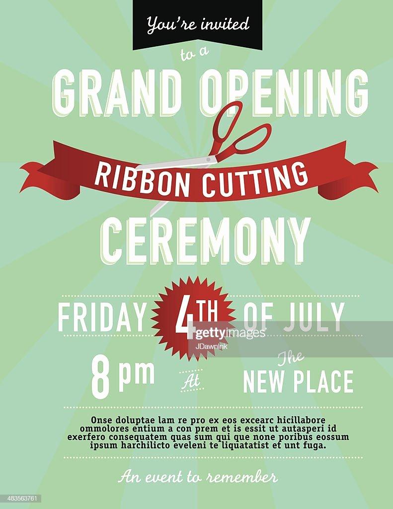 Grand Opening Invitation Template Fresh Grand Opening Ribbon Cutting Invitation Design Template